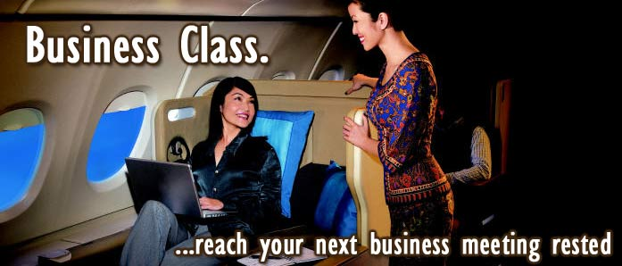 business class flights design image